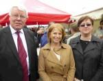 Martial Herbert, Brigitte Bourguignon,député, Christine Wasselin, adjoint au maire de Marquise m
