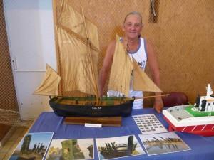 Audresselles: réflexions à partir d'une exposition de maquettes de bateau dans art alain-houbron-4-aout-2013-300x225