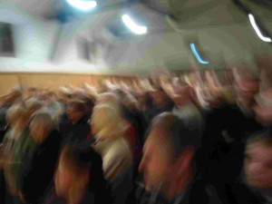 La foule audresselloise enthousiaste