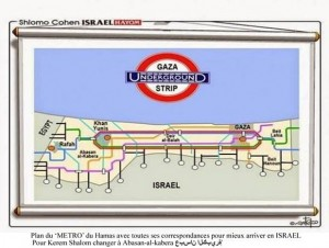 1a cartes des tunnels de Gaza