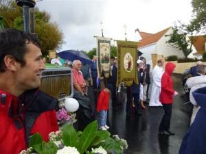 le départ de la procession
