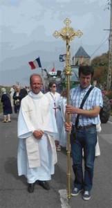 Père Hyacinthe  Destivelle (o.p.) official au Conseil pontifical pour l'unité des Chrétiens et Benoît Geneau de Lamarlière (r)