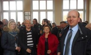 Ambleteuse Le docteur lelièvre du Breuil, maire d'Ambleteuse et  ses adjoints