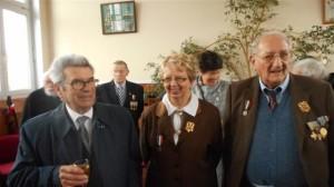 Audresselles Le président Jayat, Evelyne et le maire adjoint