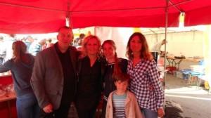 fête du crabe 2016 Patrick & Florence Boucher, Graziella Lefiliâtre,  une amie et son fils  (r)
