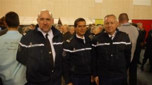 Chef d'escadron Didier Bernard et ses adjoints janvier 2016 026